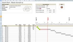 Screenshot Gantt Chart (Version 6.2)